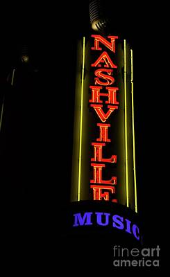 Photograph - Nashville Music by David Bearden