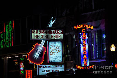 Photograph - Nashville Neon by David Bearden