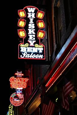 Photograph - Nashville Neon Signs  by Carol Montoya