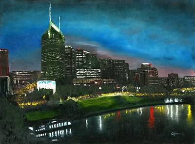 Painting - Nashville Nights by Craig Stevens