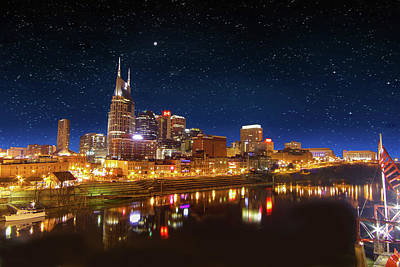 Nashville Nights Art Print