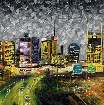 Of Nashville Skyline Painting - Nashville On The Move by Douglas Parr