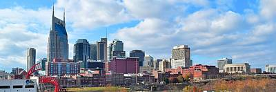 Photograph - Nashville Panorama View by Frozen in Time Fine Art Photography