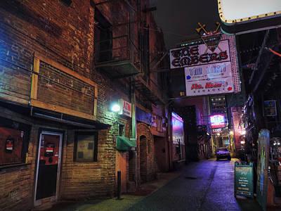 Historic Photograph - Nashville - Printer's Alley 001 by Lance Vaughn