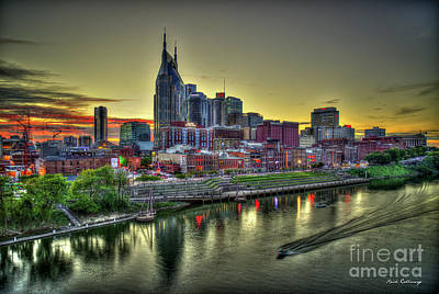 Photograph - Nashville Resplendent Sunset Cityscape Art by Reid Callaway