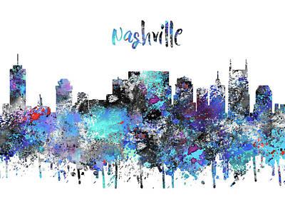 Nashville Skyline Painting - Nashville by Rosalia Simunovic