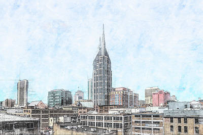 Photograph - Nashville Sketch by Erwin Spinner