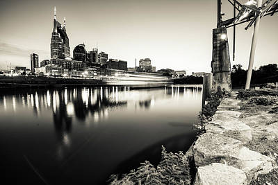 Photograph - Nashville Skyline Monochromatic Contrasts by Gregory Ballos