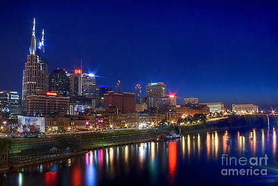 Photograph - Nashville Skyline by Photography by Laura Lee