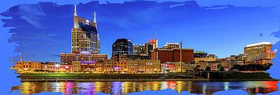 Digital Art - Nashville Skyline by Rod Jellison