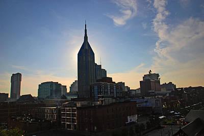 Nashville Skyline Art Print by Susanne Van Hulst