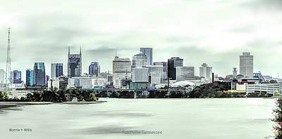 Digital Art - Nashville Tennessee by Bonnie Willis