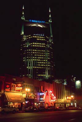 Nashville Tennessee Night Art Print by Art America Online Gallery