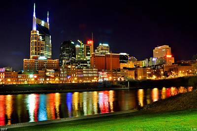 Photograph - Nashville Tennessee Skyline At Night by Lisa Wooten