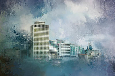 Nashville Tennessee Skyline Art Print by Jai Johnson