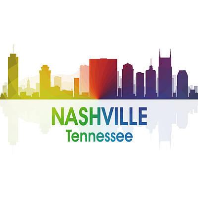 Digital Art - Nashville Tn 1 Squared by Angelina Tamez