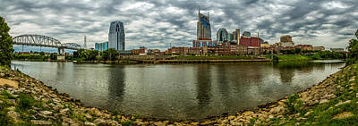 Photograph - Nashville Tn Panoramic by Ron Pate