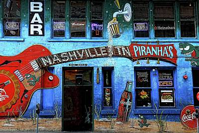 Photograph - Nashville Tn Piranha's Bar And Grill Mural by Carol Montoya
