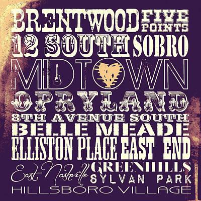 Brentwood Tn Digital Art - Nashville Tn V4 by Brandi Fitzgerald