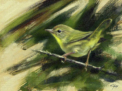 Painting - Nashville Warbler by Neil Rizos