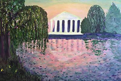 Nashville Building Painting - Nashville's Centennial Park by Maura Satchell