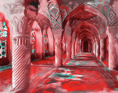 Dome Painting - Nasir Ol Mulk Mosque 682 3 by Mawra Tahreem