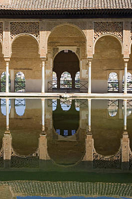 Stellar Interstellar - Nasrid Palace arches reflection at the Alhambra Granada by Mal Bray