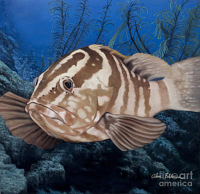 Painting - Nassau Grouper by Alan Feldmesser