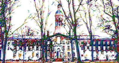 Painting - Nassau Hall by DJ Fessenden
