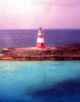 Mixed Media - Nassau Lighthouse by Banning Lary