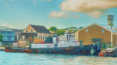 Photograph - Nassau Tug by Mick Burkey