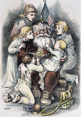Nast: Christmas, 1879 Art Print by Granger