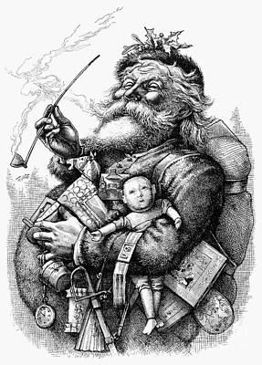 Nast: Santa Claus, 1880 Art Print by Granger