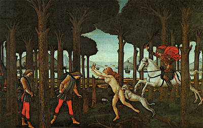 Digital Art - Nastagio First  by Sandro Botticelli