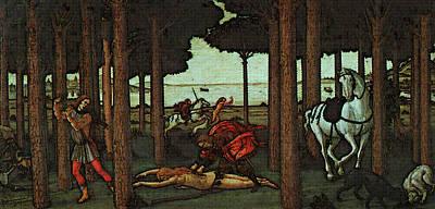 Digital Art - Nastagio Second  by Sandro Botticelli