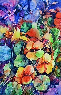 Painting - Nasturtium Orange by Zaira Dzhaubaeva