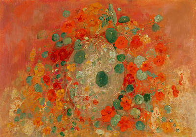 Nasturtiums Painting - Nasturtiums by Mountain Dreams