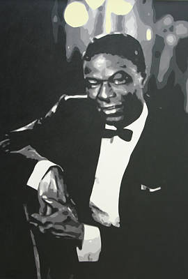 Nat King Cole Painting - Nat King Cole 2013 by Luis Ludzska