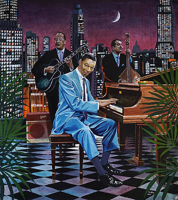 Painting - Nat King Cole - After Midnight by Jo King