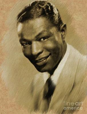 Painting - Nat King Cole by Mary Bassett