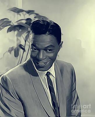 Music Royalty-Free and Rights-Managed Images - Nat King Cole, Music Legend by John Springfield