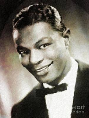 Nat King Cole Painting - Nat King Cole, Music Legend by Mary Bassett