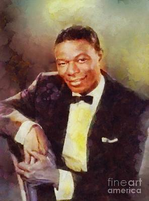 Rock And Roll Royalty-Free and Rights-Managed Images - Nat King Cole, Music Legend by Sarah Kirk