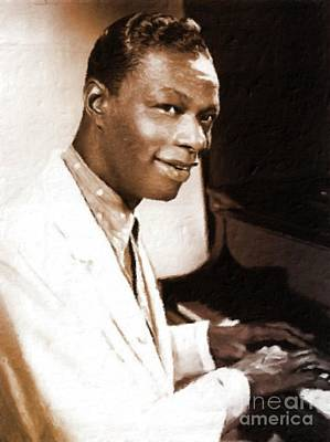 Nat King Cole Painting - Nat King Cole, Singer by Mary Bassett