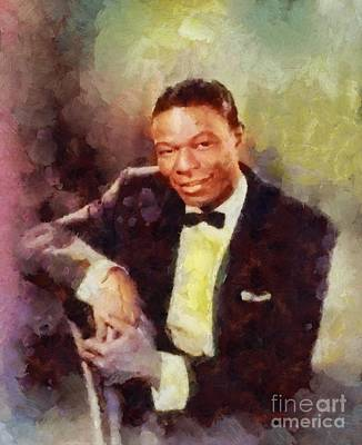 Music Paintings - Nat King Cole, Singer by Esoterica Art Agency