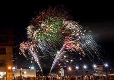 Natal Day Fireworks Halifax Harbour Art Print by Irena Kazatsker