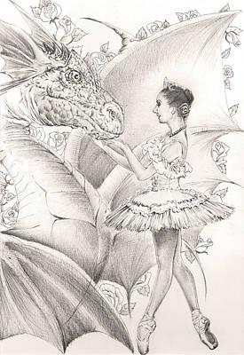 Dance Ballet Roses Drawing - Natalia by Alexey Gerasimov