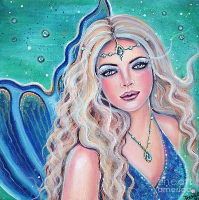Mermaid Tail Painting - Natalia Mermaid by Renee Lavoie