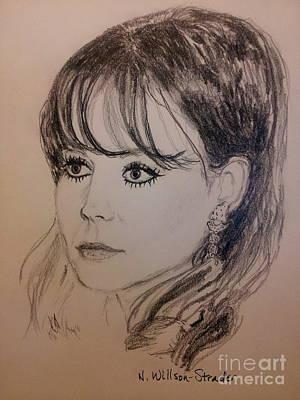 Natasha Drawing - Natalie, Black And White by N Willson-Strader