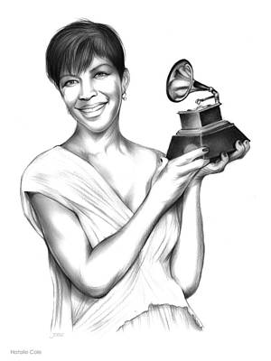 Music Drawings - Natalie Cole by Greg Joens